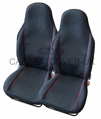 Ford Explorer  - Pair of UK MADE Black & Red Trim Car Seat Covers