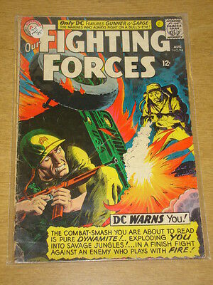 Our Fighting Forces #94 G (2.0) Dc Comics August 1965 **