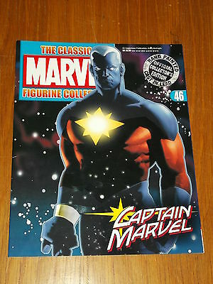 Marvel Classic Figurine Collection #46 Captain Marvel Magazine Only No Figure