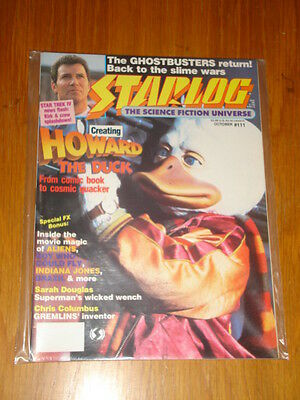 Starlog #111 Sci-Fi Magazine October 1986 Howard The Duck Ghostbusters