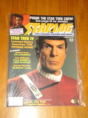 Starlog #114 Sci-Fi Magazine January 1987 Star Trek Iv Eddie Murphy Starman