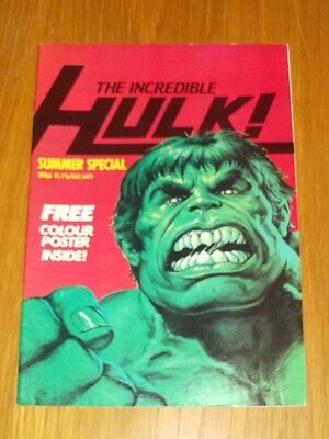 Incredible Hulk Summer Special 1982 Marvel British Weekly With Free Gift