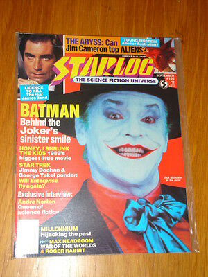 Starlog #146 Sci-Fi Magazine September 1989 Batman Joker James Bond Star Trek