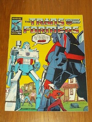 Transformers British Weekly #73 9Th August 1986 Marvel Uk Comic