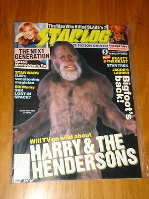 Starlog #163 Sci-Fi Magazine February 1991 Harry & The Hendersons Bigfoot's Back