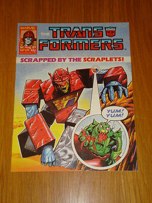 Transformers British Weekly #124 Marvel Uk Comic 1987