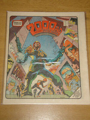 2000Ad #211 British Weekly Comic Judge Dredd May 1981 *