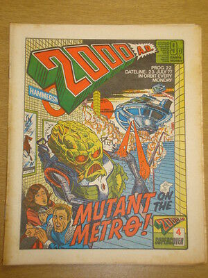 2000Ad #22 British Weekly Comic Judge Dredd Jul 1977 *