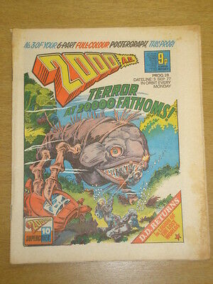 2000Ad #28 British Weekly Comic Judge Dredd Sep 1977 *