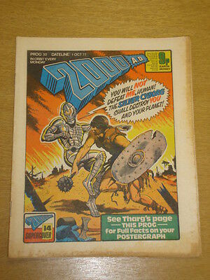 2000Ad #32 British Weekly Comic Judge Dredd Oct 1977 *