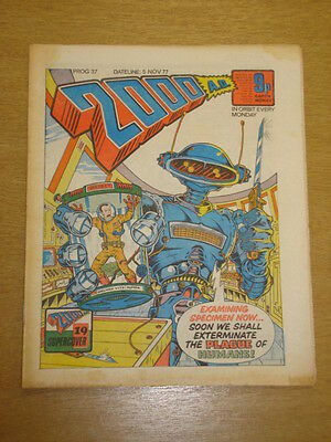 2000Ad #37 British Weekly Comic Judge Dredd Nov 1977 *