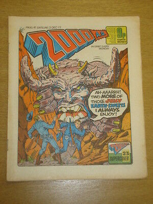 2000Ad #41 British Weekly Comic Judge Dredd Dec 1977 *