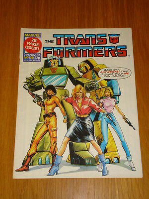 Transformers British Weekly #138 Marvel Uk Comic 1987