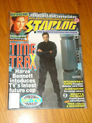 Starlog #188 Sci-Fi Magazine March 1993 Time Trax Star Trek Terry Farrell