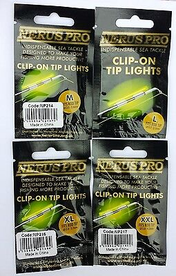 10 Clip - On Chemical Tip Lights For Fishing Rods