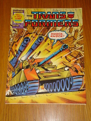 Transformers British Weekly #141 Marvel Uk Comic 1987