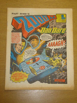 2000Ad #57 British Weekly Comic Judge Dredd *