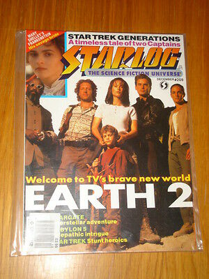 Starlog #209 Sci-Fi Magazine December 1994 Earth 2 Star Trek Babylon 5