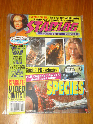 Starlog #214 Sci-Fi Magazine May 1995 Species Tank Girl Star Trek Voyager