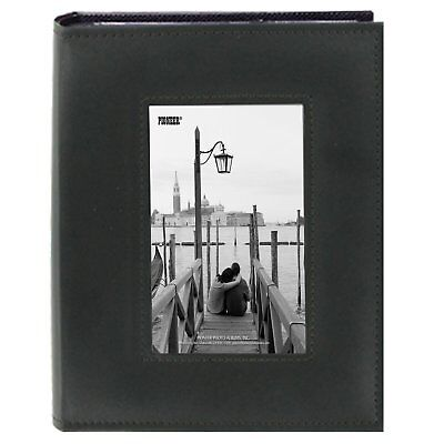 "Pioneer Sewn Frame Photo Album 7""X9"" 200 Pockets-Black"