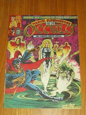 Marvel Superheroes And The Occult Marvel Winter Special British Comic Dr Strange