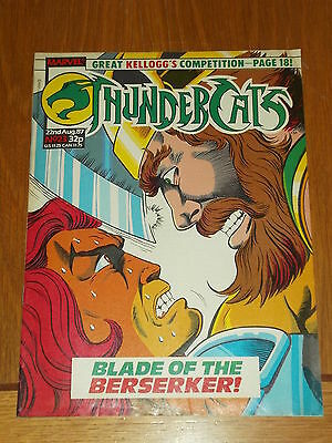 Thundercats #23 22Nd August 1987 British Weekly Comic Free Poster Gift Included