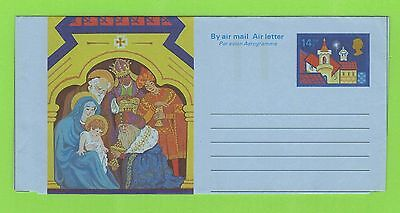 GB  14½p Unused Christmas Aerogramme