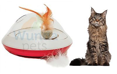 Rosewood Feather Chaser Rotating Battery Power Electric Cat Kitten Toy 11576 P