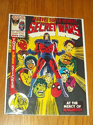 Super Heroes Secret Wars #3 Marvel British Weekly 25 May - 7 June 1985 With Gift