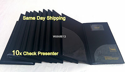 Brand New LOT 10 BILL PRESENTERS American Express Waiter CHECK BOOK BOOKLET PAD