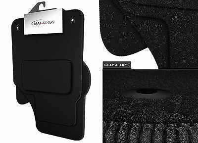 Vauxhall Astra H MK5 Tailored Black Car Floor Mats Carpets 4pc Set With Clips