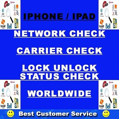 iPhone Network Check Carrier Check ALL MODEL IPHONE SUPPORTED