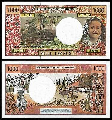 French Pacific Territories 1000 Francs P 2 UNC