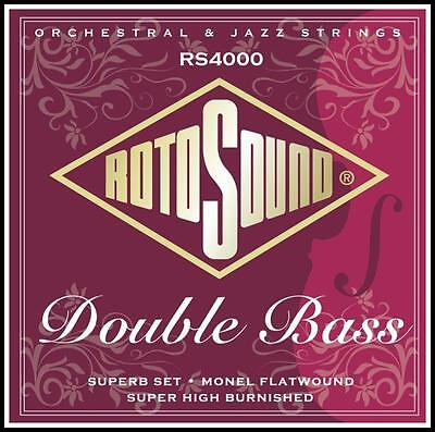 Rotosound RS4000 Superb 3/4 Size Double Bass Strings Set Monel Flatwound