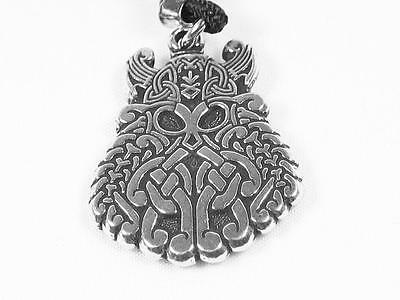 Norse Viking Warrior God Odin Handmade Pewter Pendant, Power and protection