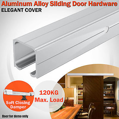 2m Modern Aluminum Alloy Sliding Barn Door Hardware Track Set Interior Closet