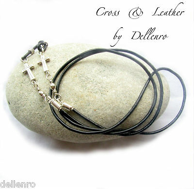 ✫Cross & Leather✫ Eyeglass Glasses Spectacle Chain Holder  Cord