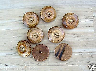 """Unique WOOD Shank Back 7/8"""" Buttons High Luster Lacquer Finish (8) Buttons"""