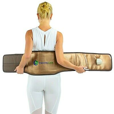 Natural Jade Stones Negative Ions FIR InfraRed Heating Multi Energy Belt Mat Pad