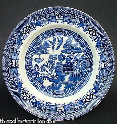 Vintage 1960's Swinnertons Blue Old Willow Pattern Dinner Plates 25cm Good Cond