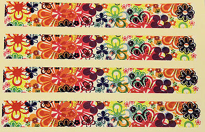 "0922 VINYL HD ARROW WRAPS-M-FLOWERS  1"" WIDE 7"" LONG (12 Pack)"