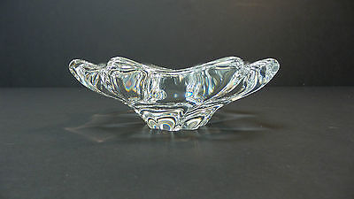 """Beautiful Vintage Baccarat Crystal """"free Form"""" Small Candy Dish / Bowl, Signed"""
