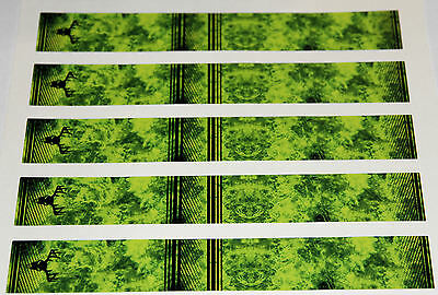 "0979 VINYL HD ARROW WRAPS FI-INFERNO-GREEN 1"" WIDE 7"" LONG (12 Pack)"