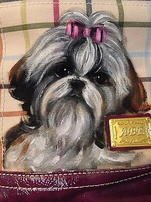 Shih Tzu Handpainted Handbag Pocketbook Tote - New - BEAUTIFUL!