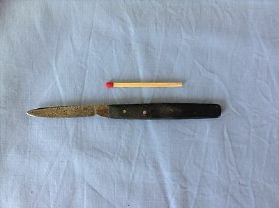 Antique scalpel penknife with chamfered ebony handle