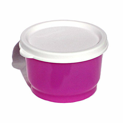 TUPPERWARE NEW 1 x SNACK CUP 120ml Kids Baby Meals Lunch Snacks PURPLE / WHITE