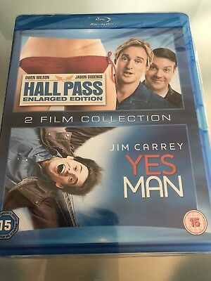 Hall Pass/Yes Man*****Blu-Ray******Region B*****New & Sealed