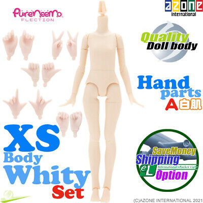AZONE 1/6 Pure Neemo FLECTION XS Body & Hand parts A set White Blythe Doll NEW