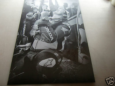 "*SIGNED*  A2 poster print - John McGuinness ""thumbs up"" - isle of man TT"