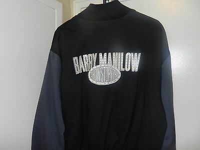 Barry Manilow XXRARE SHOWSTOPPERS XL jacket coat letterman style vtg CD DVD HOT